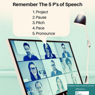 The Five P's of Speech