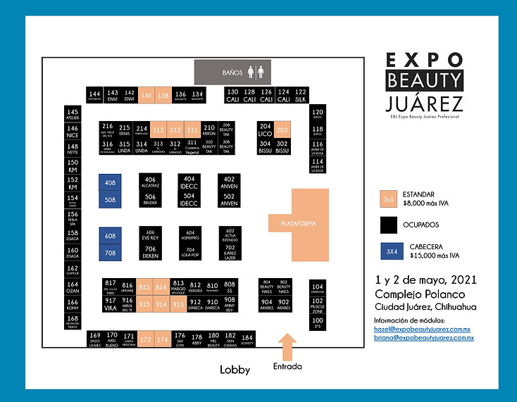 layout expo beauty COMPLEJO POLANCO fase