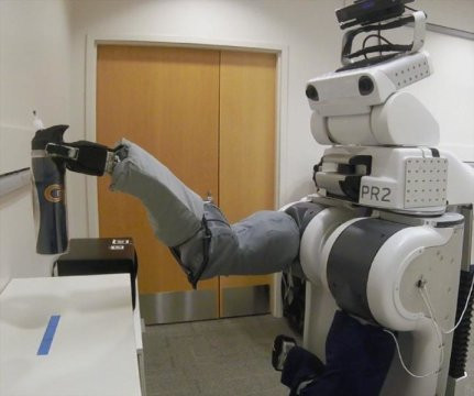 Robot's eye view of surroundings to help users interact with the world through the machine.