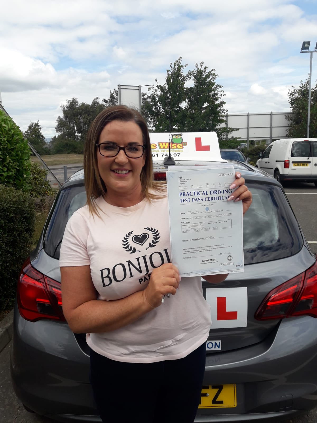 Pauline Mathison.  Passed using OWD.