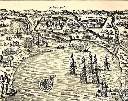 ilustração de mapa da baía de são vicente