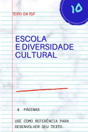 Escola e diversidade cultural
