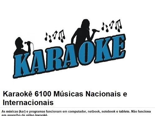 Karaokê 6100 Músicas Nacionais E Internacionais