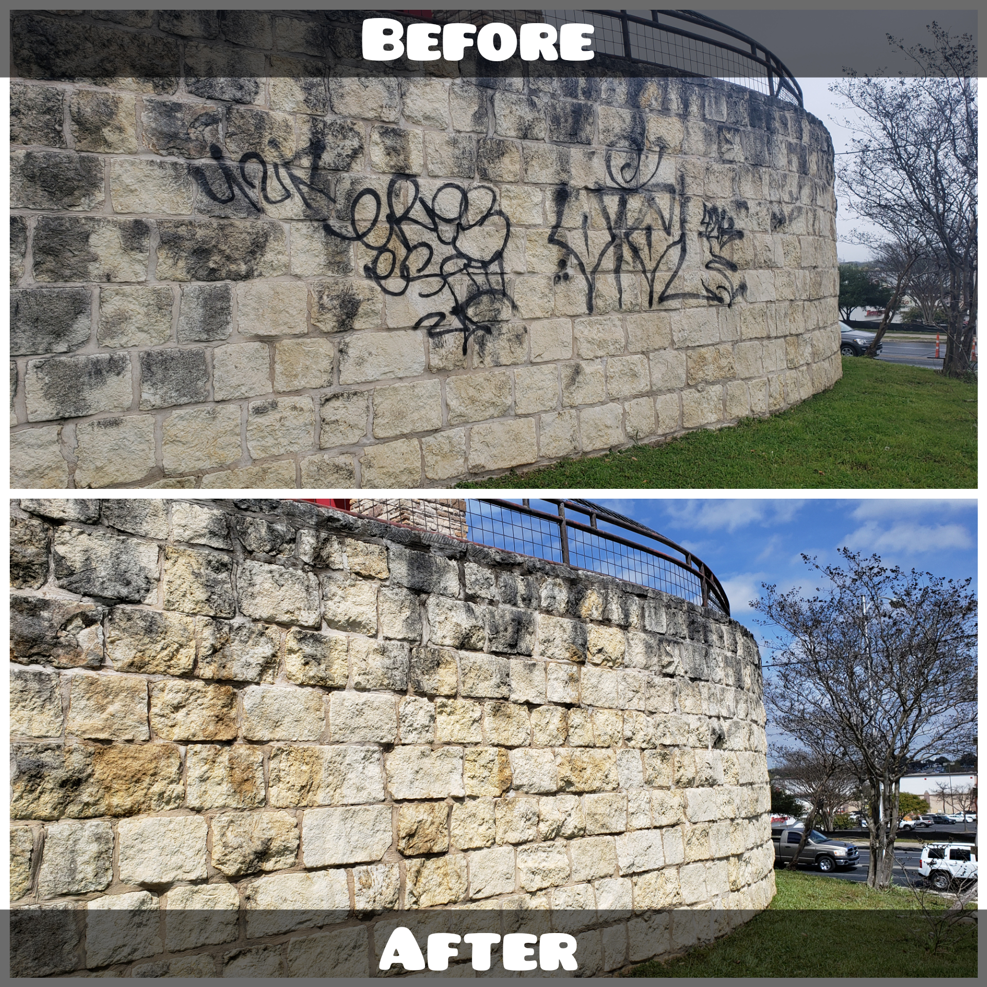 Graffiti Removal Before & After