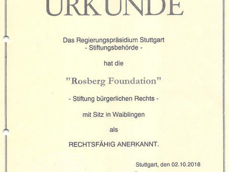 Bekanntmachung über die Anerkennung einer Stiftung