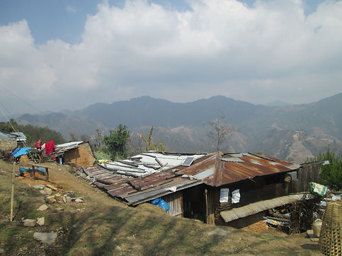 Typical post-earthquake shelter, in whic
