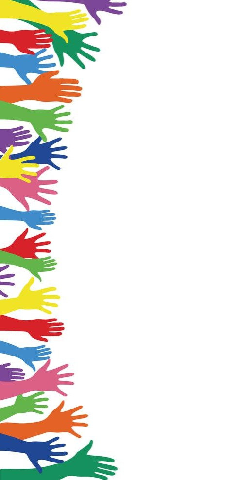 colorful-hands-up-and-background-art-vec