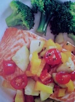Salmon with Cucumbe Salsa