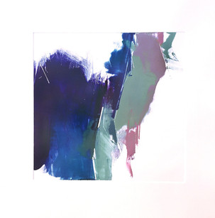 "Terra INfirma/Iceland Study I, monotype, 10"" x 10"""