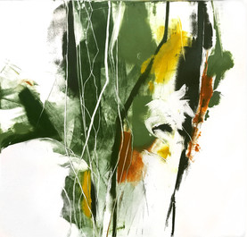 """Malka'i III, monotype on BFK Rives paper, 12x12"""" SOLD"""