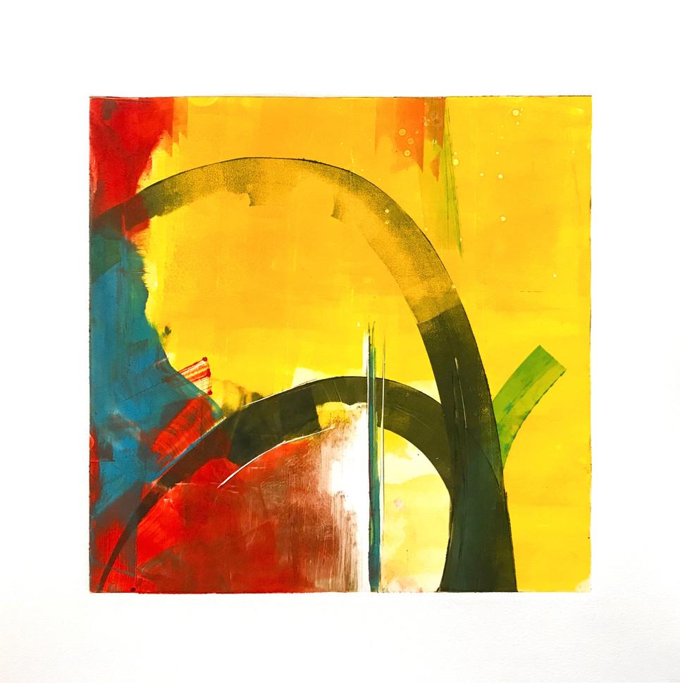 "Terra INfirma/Sonora Study II, monotype, 10"" x 10"""