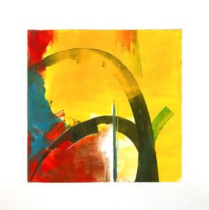 "Terra INfirma/Sonora Study II, monotype, 10"" x 10"" SOLD"