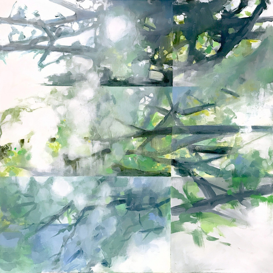 "window,kleinart james, acrylic on canvas, 30"" x 30"""