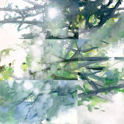 "Window,Kleinartjames, acrylic on canvas, 30""x30"""