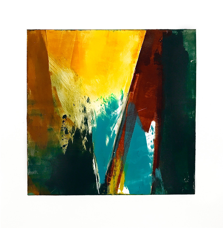 """Terra INfirma/Sonora Study I, monotype, 10"""" x 10"""""""