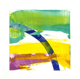"Terra INfirma/Great Barrier Reef/Study V, monotype, 10"" x 10"""