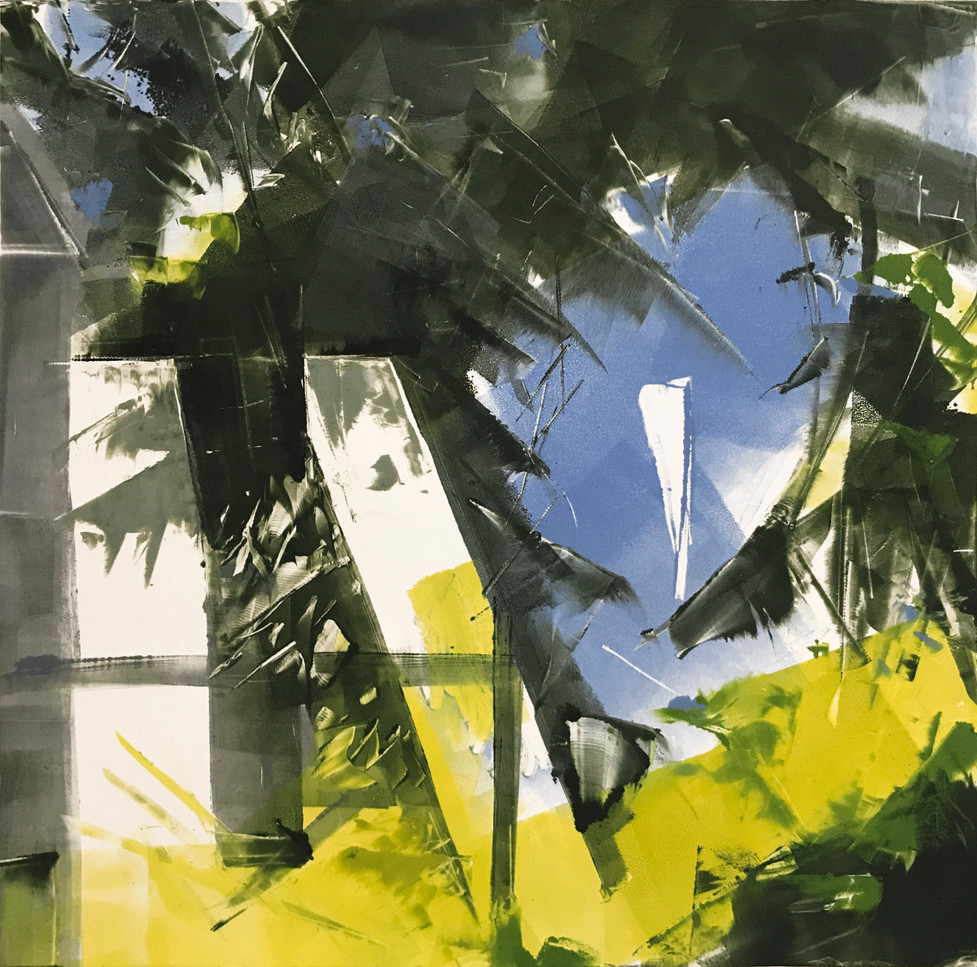 summer/window, monotype, 12x12
