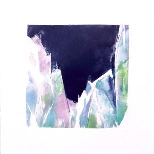 "Terra INfirma/Iceland Study V, monotype, 10"" x 10"""