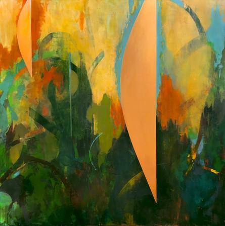 "TerraINfirma/Sonora, acrylic on panel, 30""x30"""