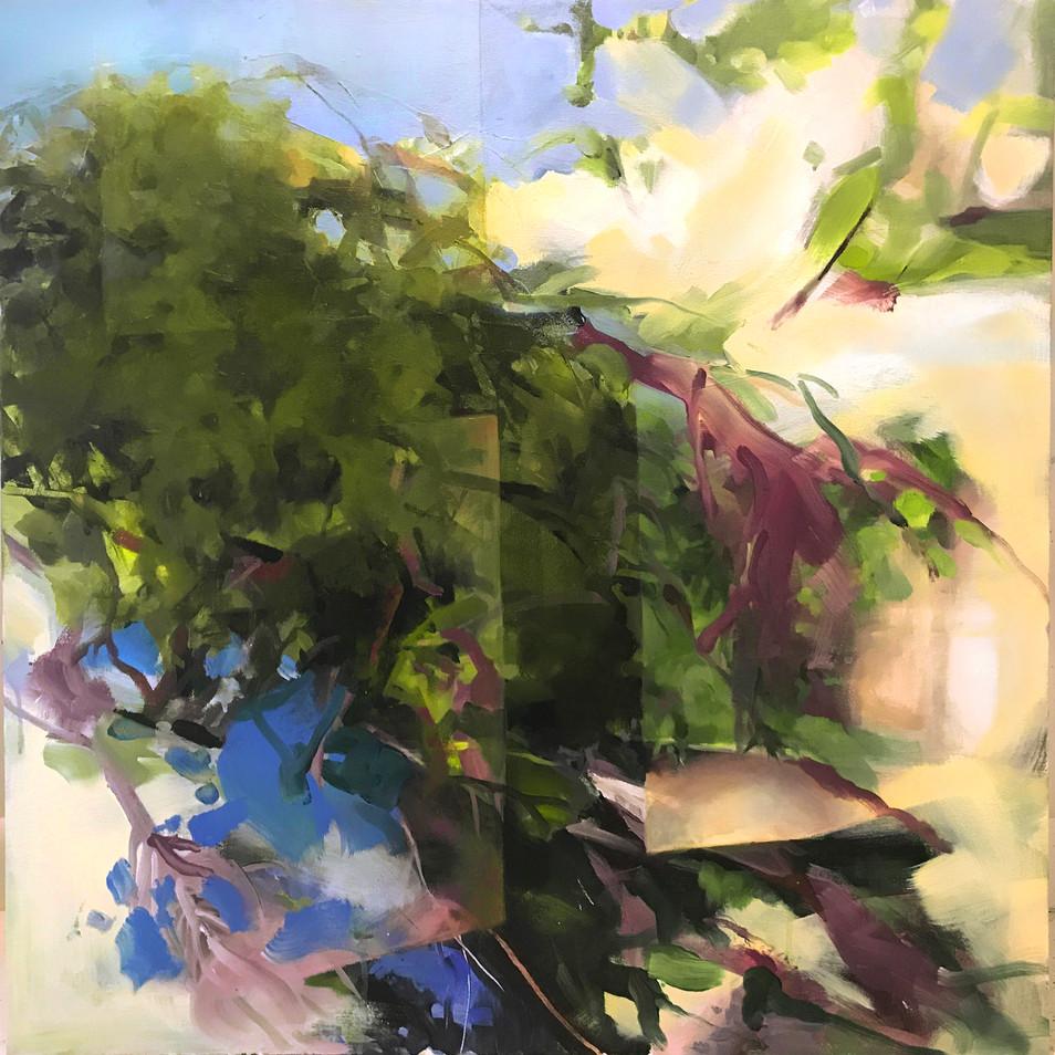 """window,kleinart james II, acrylic on canvas, 30"""" x 30"""""""