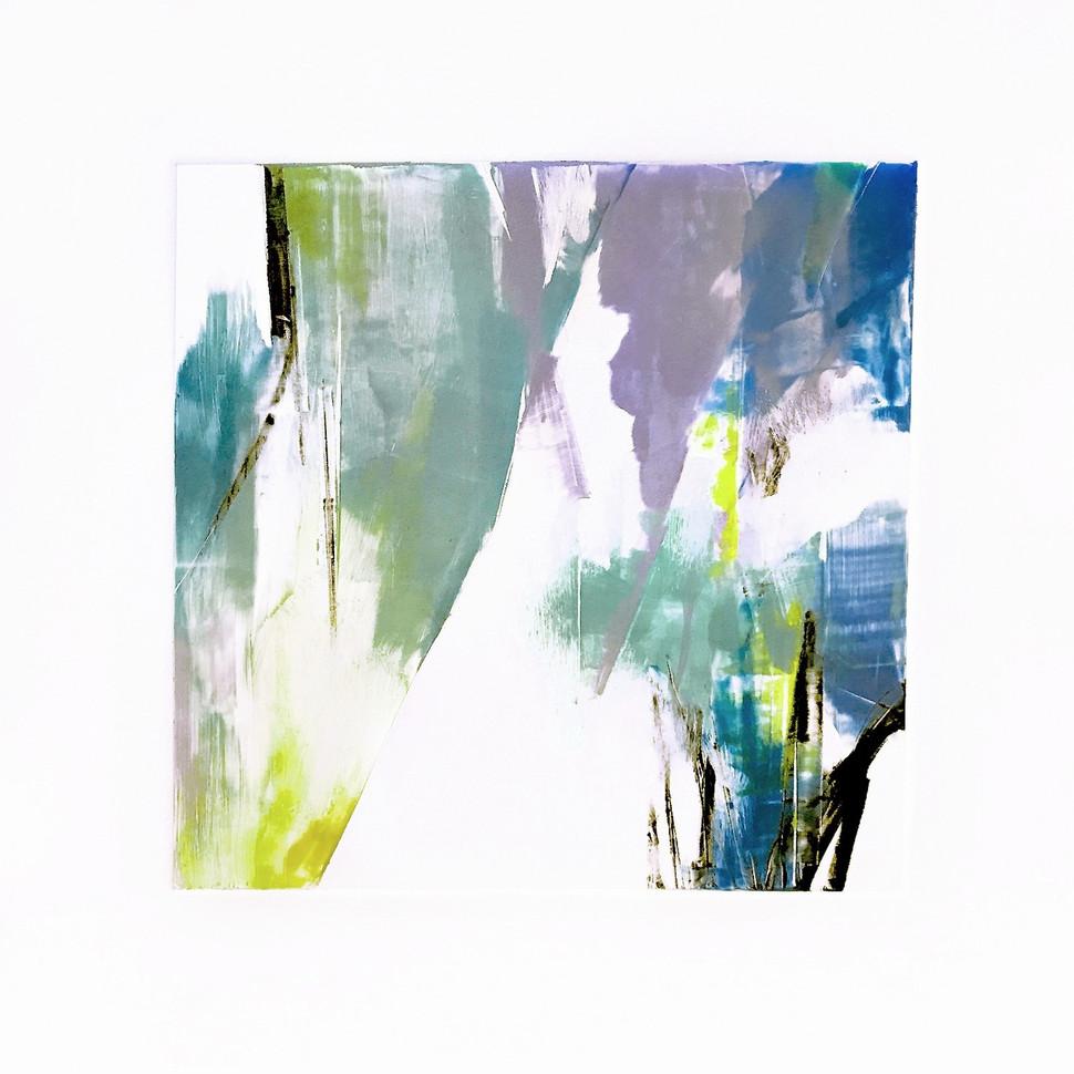 """Terra INfirma/Iceland Study III, monotype, 10"""" x 10"""""""