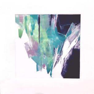 "Terra INfirma/Iceland Study IV, monotype, 10"" x 10"""