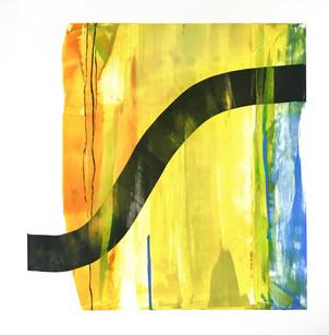"""Terra INfirma/Ashokan/Study III, monotype, 16"""" x 16"""""""