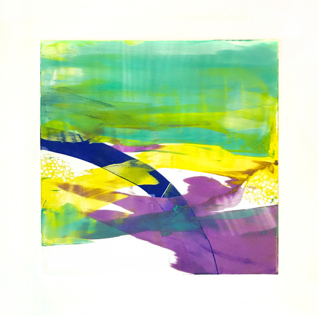 "Terra INfirma/Great Barrier Reef/Study IV, monotype, 10"" x 10"""