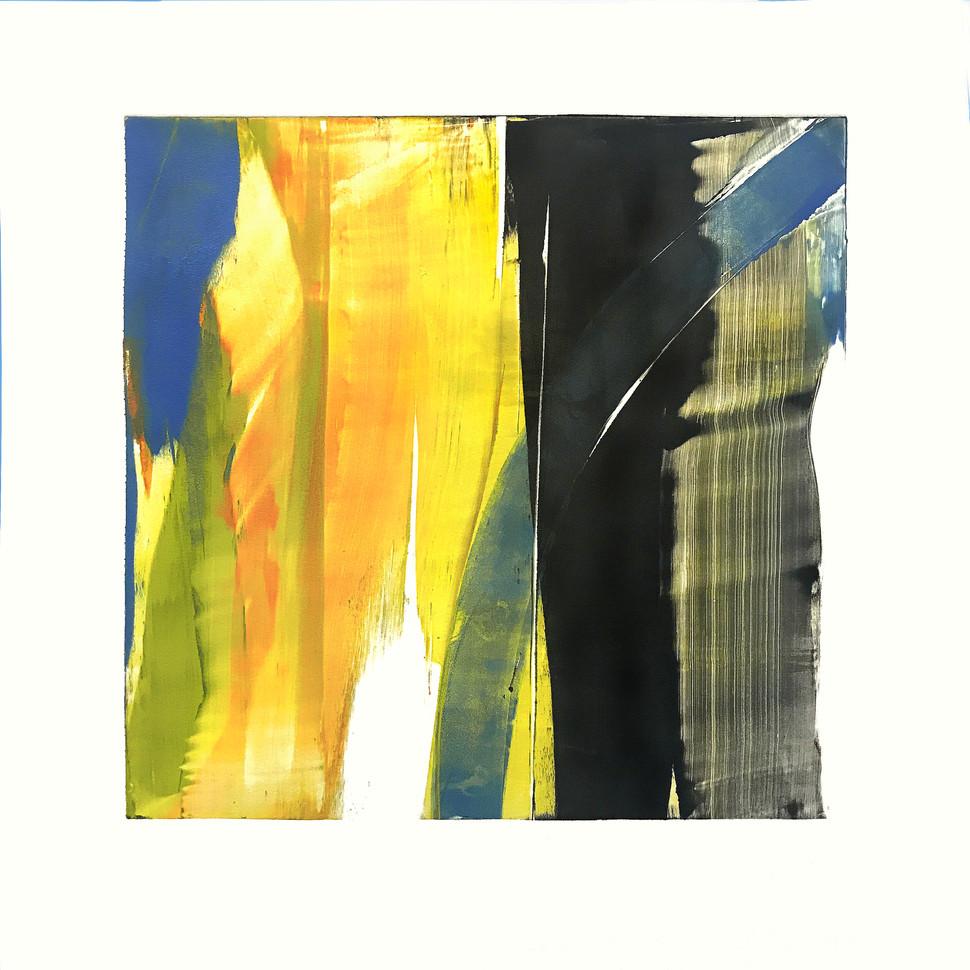 "Terra INfirma/Ashokan/Study IV, monotype, 10"" x 10"""