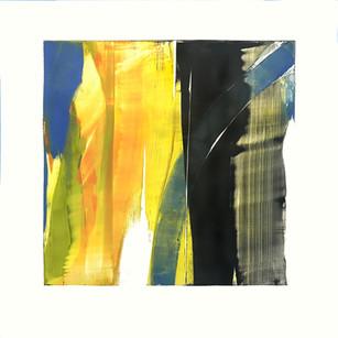 "Terra INfirma/Ashokan/Study IV, monotype, 10"" x 10"" SOLD"