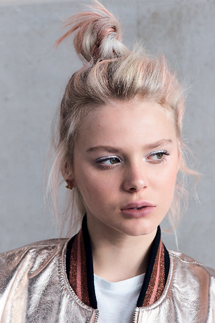 Introducing the Babe Bun, a topknot with a textured twist