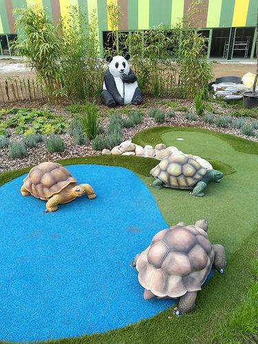 Schildpadden op de minigolf