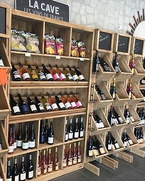 Photo de la cave des vins de La Halle d'Autrefois