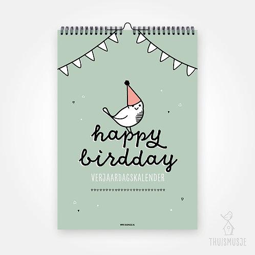 Verjaardagskalender - Happy birdday