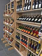 Quelques bouteilles de la cave que vous  propose à la Halles d'Autrefois