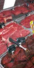 Etales de viandes rouges (Race à viande 100% locale) - ©lahalledautrefois.fr