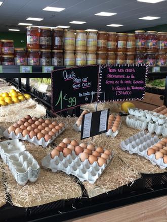 œufs de la région