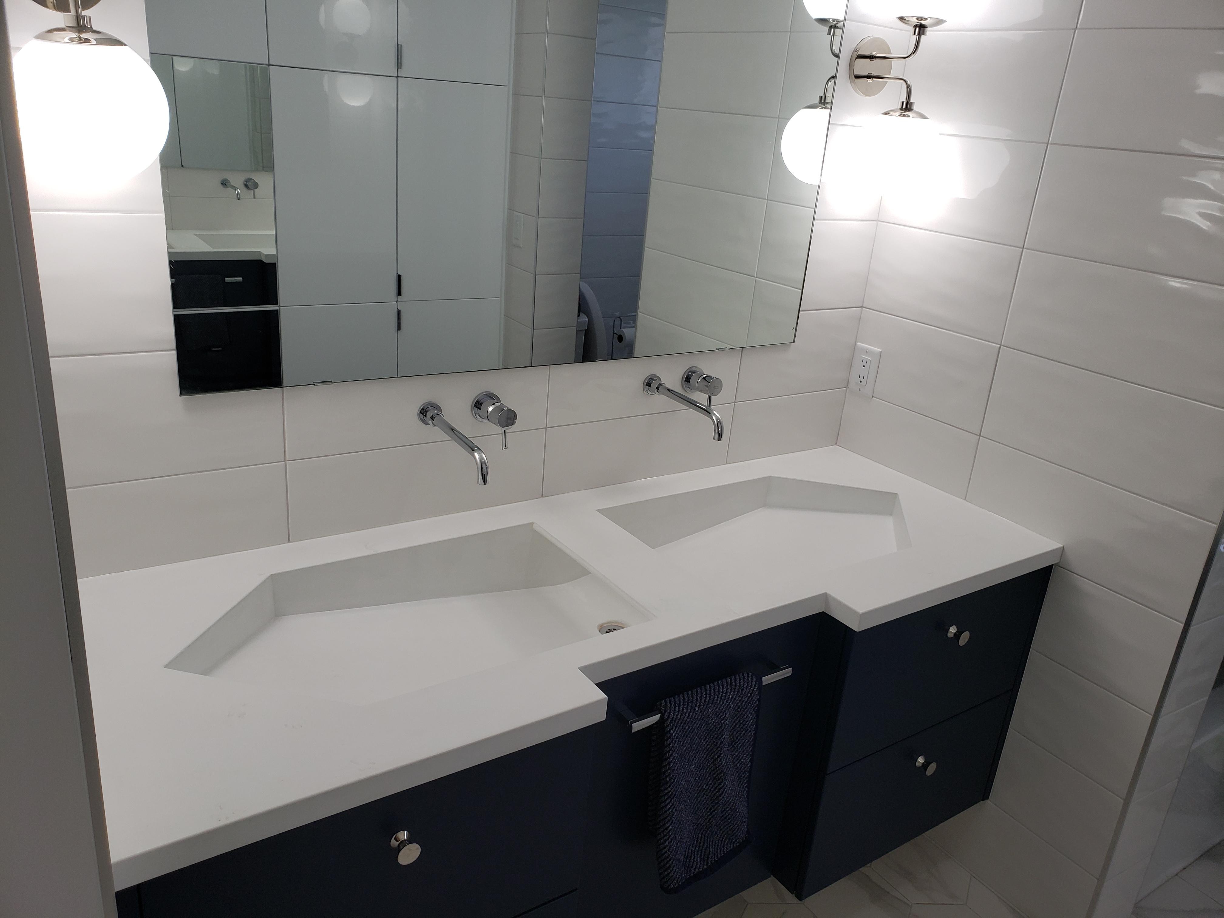 Custom ECC concrete vanity