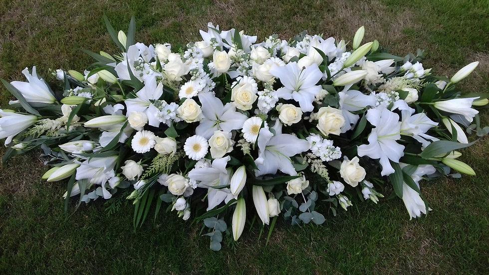 All white Coffin Spray