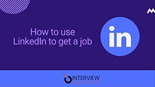 how to use linkedIn to get a job