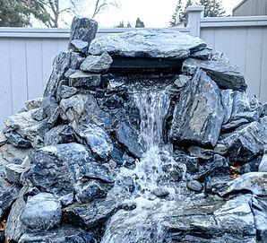Custom pondless waterfall installation - Winnipeg, Manitoba
