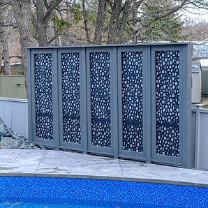 Large privacy screen installation - Winnipeg, Manitoba