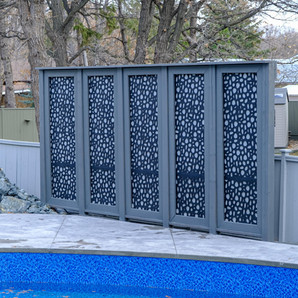 Large privacy screen installation - Winnipeg, Manitoba
