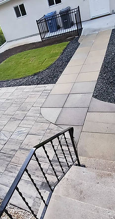 Image of paver and slab installation project completed in Winnipeg, Manitoba