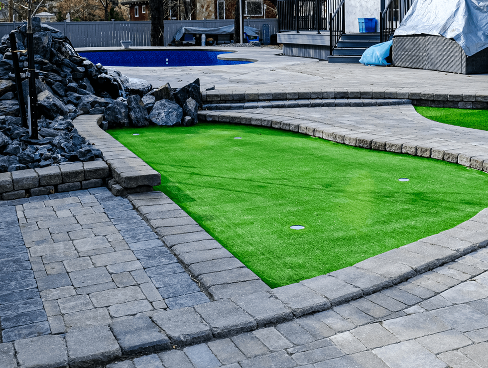 Custom putting green installation - Winnipeg, Manitoba