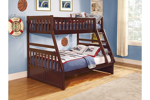 Twin full bunk bed with full slats