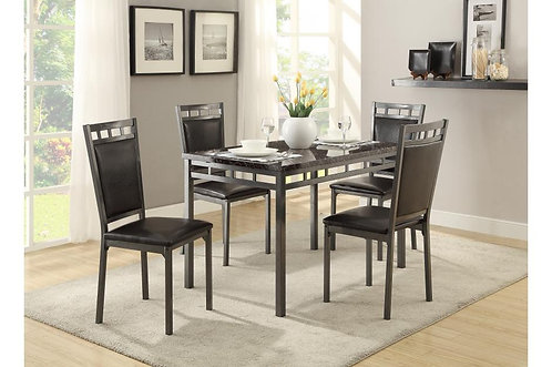 5Pc Set Olney Dining Table w/ 4 Chairs