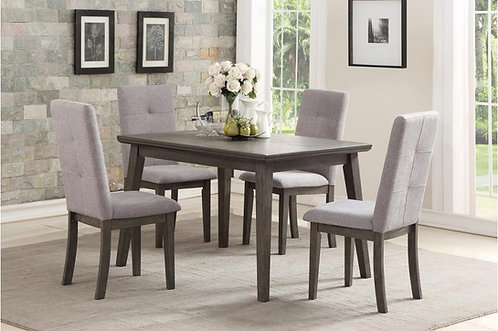 5Pc University Dining Table W/ 4 Chairs