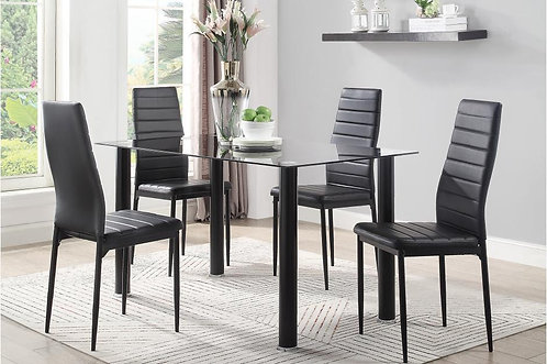 5Pc Set Florian Dining Table w/ 4 Chairs