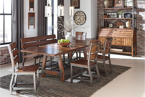 5Pc Set Holverson Dining Table W/ 4 Chairs